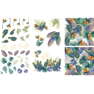 Belles and Whistles Tropical Leaves Transzfer