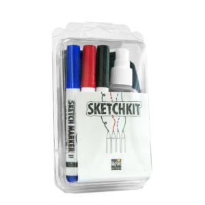 Sketchkit (4 Markers + Spray + Microfiber)