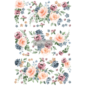 """Redesign Decor Transfers® - Watercolor Bloom - total sheet size 24""""x35"""""""