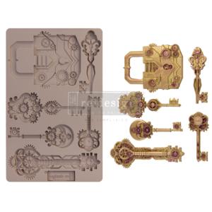"Redesign Szilikon Forma® - Mechanical Lock & Keys - 1 pc, 5""x8"", 8mm vastag"