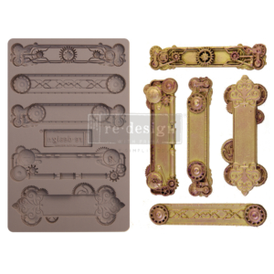 "Redesign Szilikon Forma® - Steampunk Plates - 1 pc, 5""x8"", 8mm vastag"