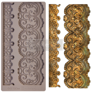 """Redesign Decor Moulds® - CECE Border Lace - 1 pc, 5""""x10"""", 8mm thickness"""