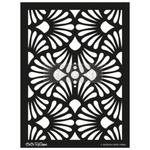 """Redesign Stencil - CECE Modern Deco 18x25.5 - sheet size 18""""x25.5"""""""