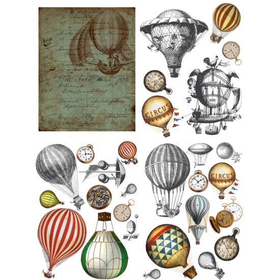 Hot Air Balloons & Clocks