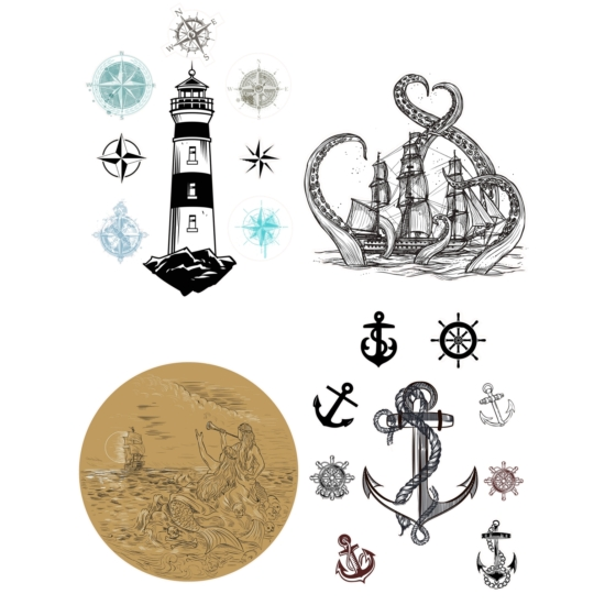 Belles and Whistles Nautical Life Transzfer