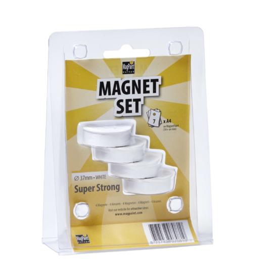 Mágnes szett - Ultra erős Fehér