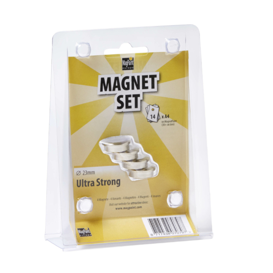 Mágnes szett - Ultra erős  ezüst 23mm
