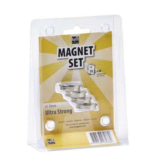 Mágnes szett - Ultra erős  ezüst 29mm