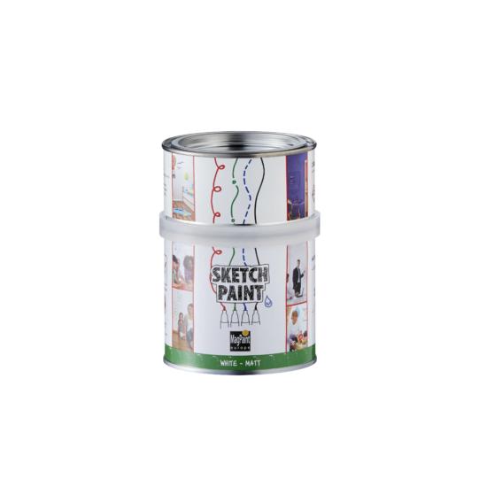 Filcfal (letörölhető) festék fehér matt 500ml