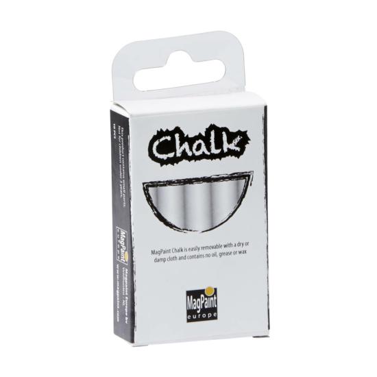 Box of 10 white crayons