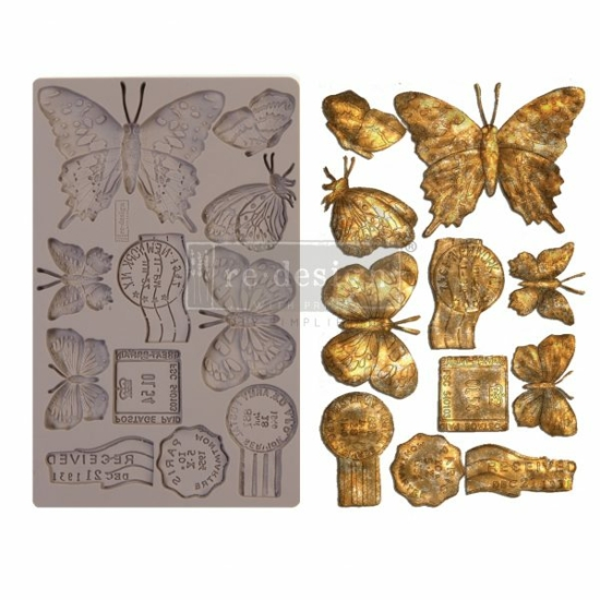 """Redesign Decor Moulds® - Butterfly In Flight - 5"""" x 8"""", 8mm"""