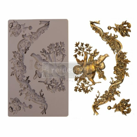 """Redesign Decor Moulds® - Divine Floral - 5"""" x 8"""", 8mm thickness"""