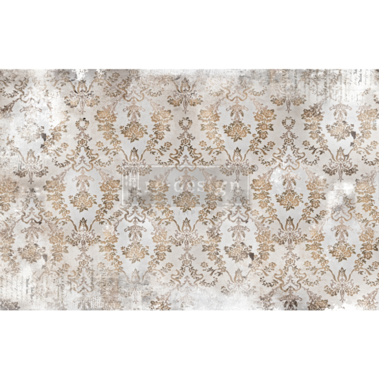 """Redesign Decoupage Décor Tissue Paper - Washed Damask - 2 sheets (19"""" x 30"""")"""