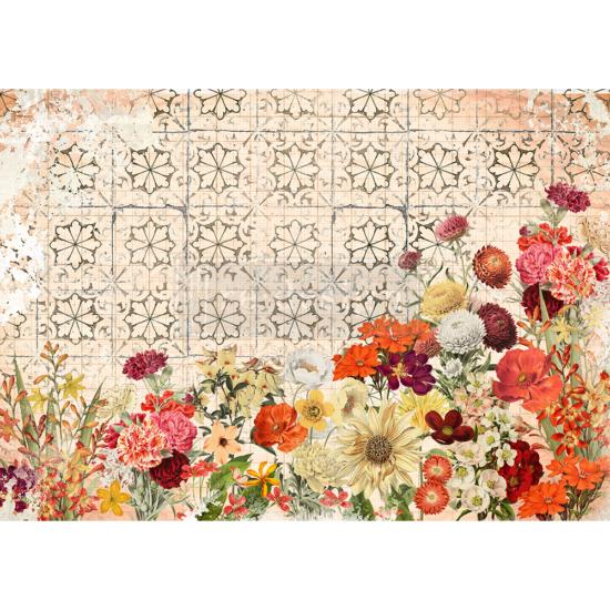 "Redesign Decor Rice Paper - Twilight field - 11.5"" x 16.25"""