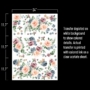 """Picture 4/5 -Redesign Decor Transfers® - Watercolor Bloom - total sheet size 24""""x35"""""""